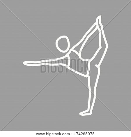 Pose, dance, yoga icon vector image. Can also be used for yoga poses. Suitable for mobile apps, web apps and print media.