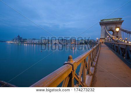 Chain Bridge in Budapest. Hungary. Europe. Architecture. Danube. Bridge.