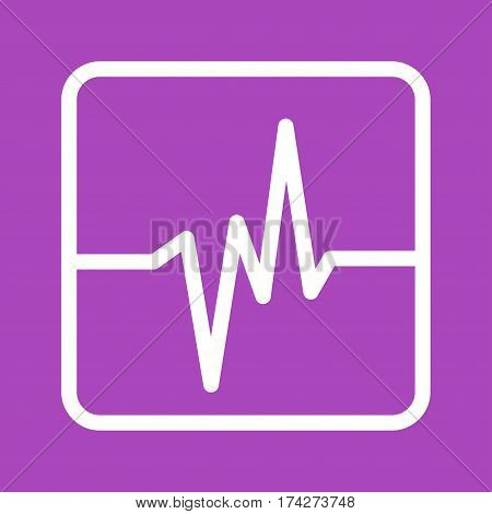 Earthquake, electronic, screen icon vector image. Can also be used for disasters. Suitable for mobile apps, web apps and print media.