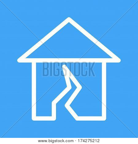 Earthquake, damage, emergency icon vector image. Can also be used for disasters. Suitable for mobile apps, web apps and print media.