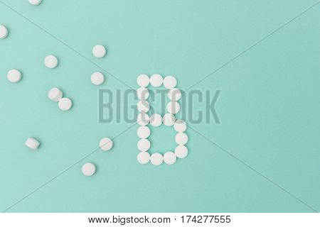 Vitamin B Pills Forming The Letter 'b'