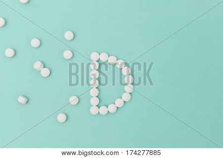 Vitamin D Pills Forming The Letter 'd'
