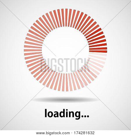 Loading icon. Indicator for loading progress. Vector