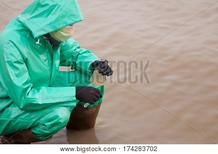 Environmentalist With Water Sample