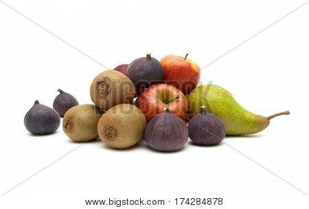 ripe fruit isolated on white background. horizontal photo.