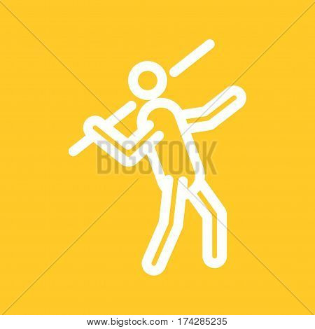 Games, javelin, sport icon vector image. Can also be used for olympics. Suitable for mobile apps, web apps and print media.