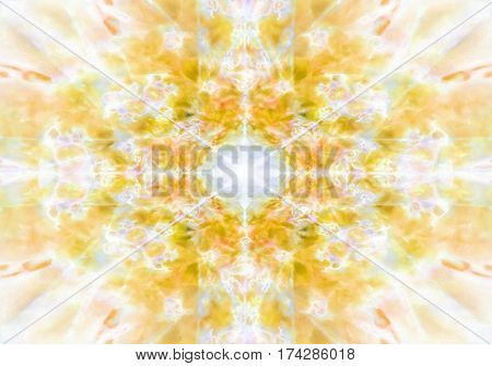 A light yellow abstract kaleidoscope background pattern