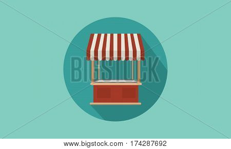 Collection stock of street stall design vector illustration