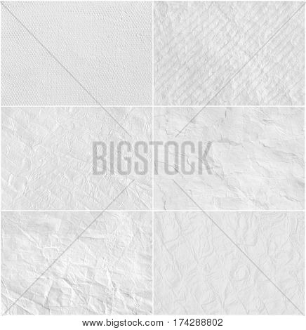Set creative white paper texture.