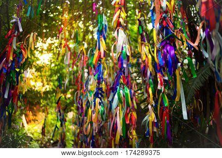 Colorful ribbons at Impressions Museum in Nha Trang, Vietnam