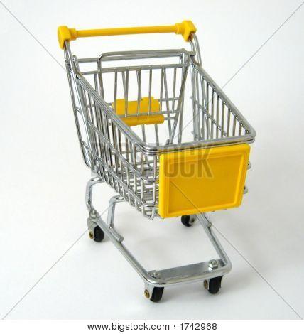 Yellow Shopping Trolley