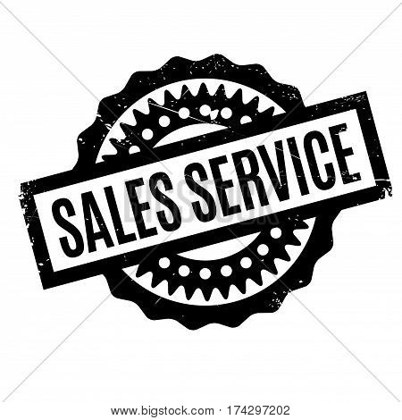 Sales Service rubber stamp. Grunge design with dust scratches. Effects can be easily removed for a clean, crisp look. Color is easily changed.