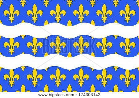 Flag of Seine-et-Marne is a French department named after the Seine and Marne rivers and located in the Ile-de-France region. Vector illustration