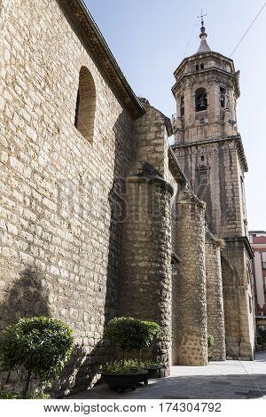Jaen (Andalucia Spain): exterior of the historic San Ildefonso church