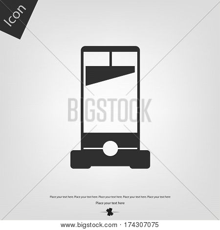 Guillotine vector icon, gray background. Vector illustration.