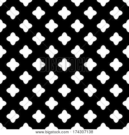 Cross geometric seamless pattern. Fashion graphic background design. Modern stylish abstract texture. Monochrome template for prints textiles wrapping wallpaper website. Stock VECTOR illustration