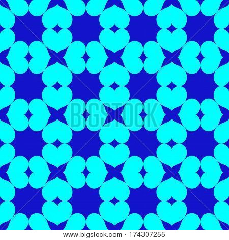 Heart chaotic seamless pattern. Fashion graphic background design. Modern stylish abstract colorful texture. Template for prints textiles wrapping wallpaper website. Stock VECTOR illustration