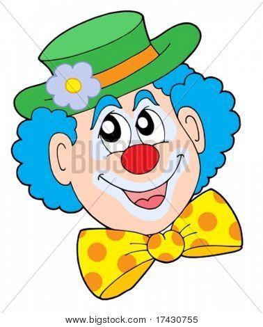 Portrait of clown - vector illustration.