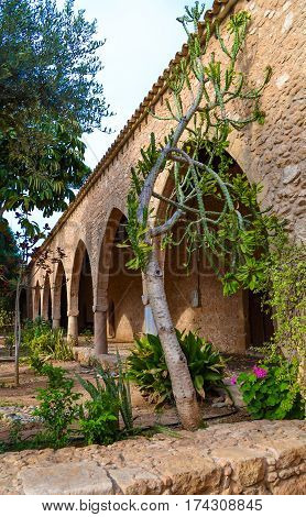 Archway of Ayia Napa Monastery Cyprus.  Archway of Ayia Napa Monastery Cyprus.