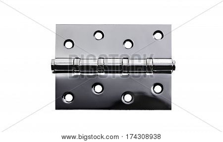 Metal hinge for door isolated on white background