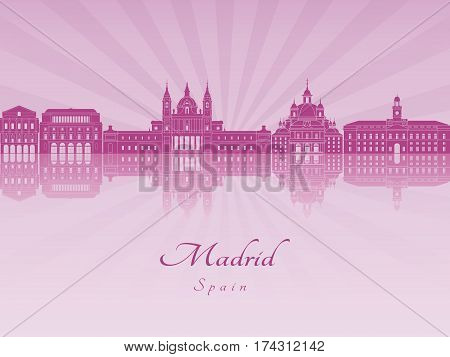 Madrid V2 Skyline In Purple Radiant Orchid