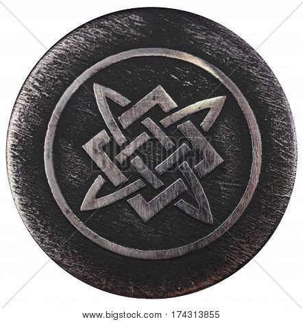 It symbolizes the fiery forge of Svarog. Also, this symbol can be Alatyr-stone on which Svarog banged his hammer, and from flying in all directions, sparks are born alive.