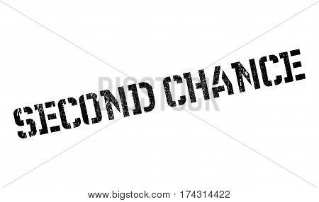 Second Chance rubber stamp. Grunge design with dust scratches. Effects can be easily removed for a clean, crisp look. Color is easily changed.