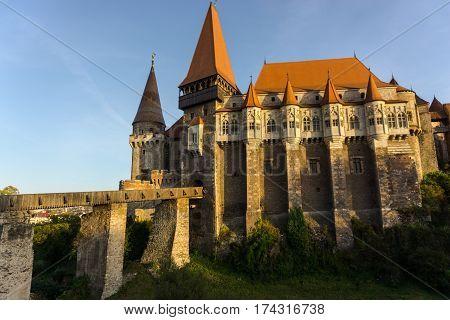 Corvinesti castle,amazing medieval castle in the midle of Transylvania , Romania
