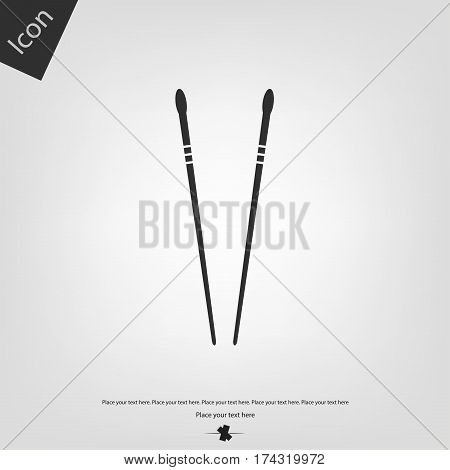 Chopsticks vector icon, gray background. Vector illustration.