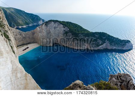 One of the most faimous beach on the world,Navagio,Greece