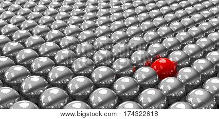 Stand out of the crowd - conceptual of the individuality, three-dimensional rendering, 3D illustration