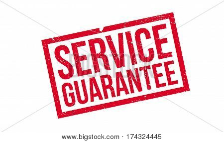Service Guarantee rubber stamp. Grunge design with dust scratches. Effects can be easily removed for a clean, crisp look. Color is easily changed.