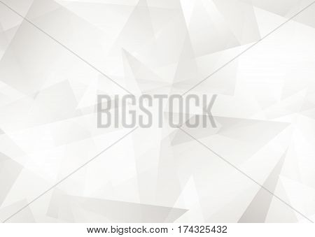 White abstract pattern of geometric shapes Texture. Geometric background