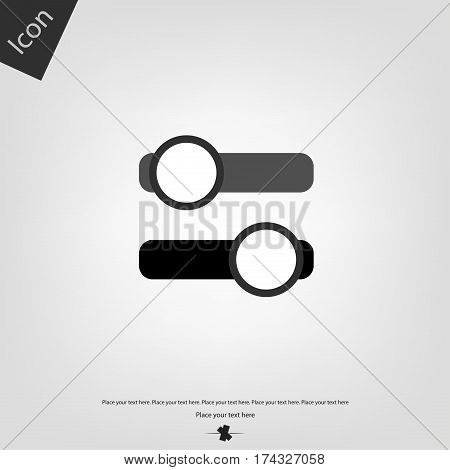 On off switch vector icon, gray background. Vector illustration.