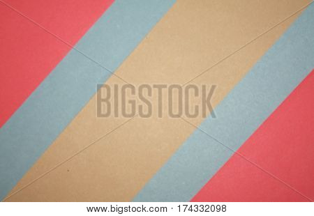 Flat design colored paper background with copyspace