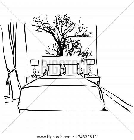 Hotel Room, Tree Decoration Design
