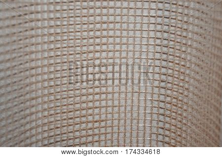 Beige net netting wavy detail curtains textile fabric canvas texture background