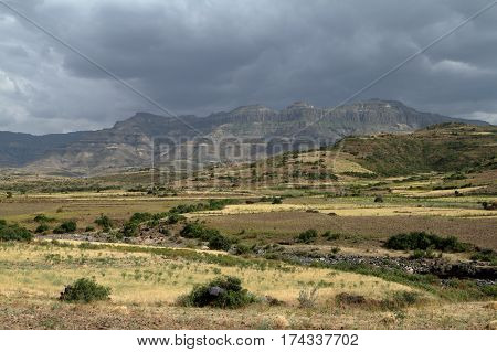 The Rainy season of Ethiopia in Africa