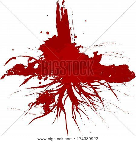 vector splatter red color background illustration vector design