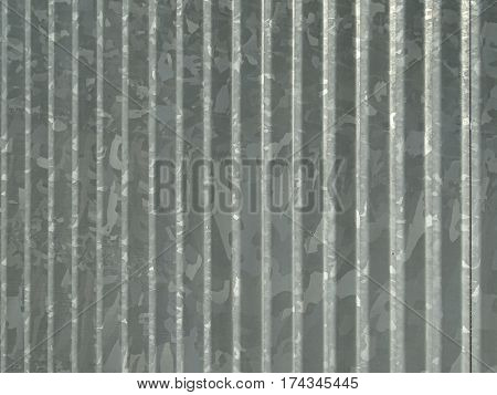 Image of a corrugated and galvanized steel sheet