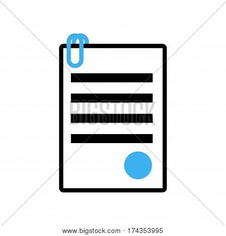 Documents Icon Sign. Office Symbol. Paper Sheet Contract With Stamp