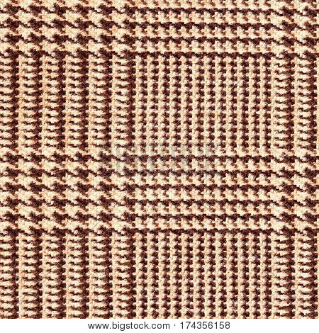 Fabric texture, tartan pattern. For natural backdrop, banner, print, template, web, decoration. Beige and brown. For background , backdrop substrate composition use With place for your text