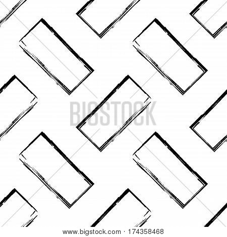 Abstract black and white seamless pattern. Vector background. Modern monochrome geometric wallpaper. Can be used for graphic design pattern fill packaging clothing printing on surfaces