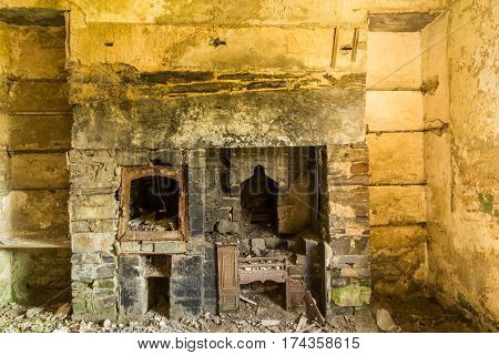 Derelict Interior, Fireplace