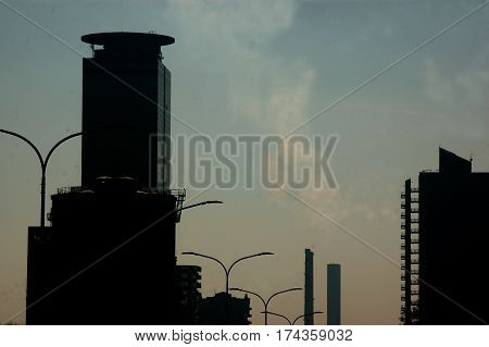 Pollution in cities - Brescia - Lombardy - Italy
