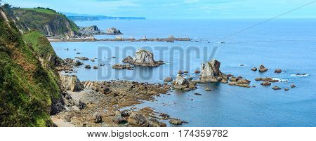 Atlantic Ocean Coastline Panorama (spain).