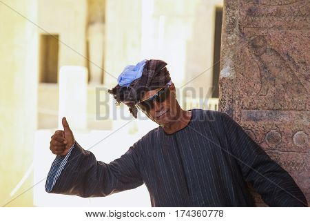 Egyptian Man With Thumb Up And Smile