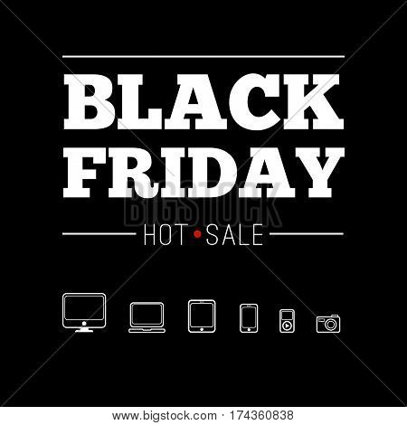 Black friday black and white set Hot sale