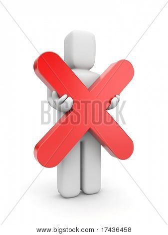 Person hold cross