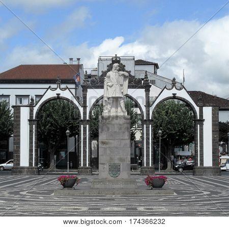 Town of Ponta Delgada, Sao Miguel, Azores, Portugal